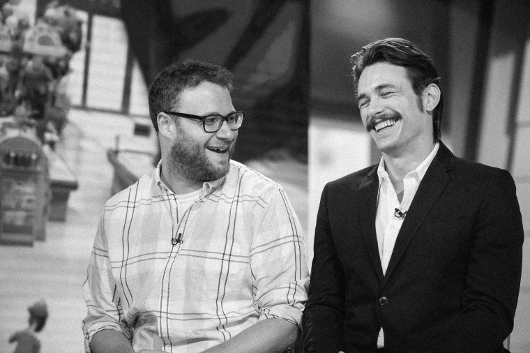 """IMage: Seth Rogen and James Franco appear on NBC's \""""TODAY\"""" show on Aug. 5, 2016."""
