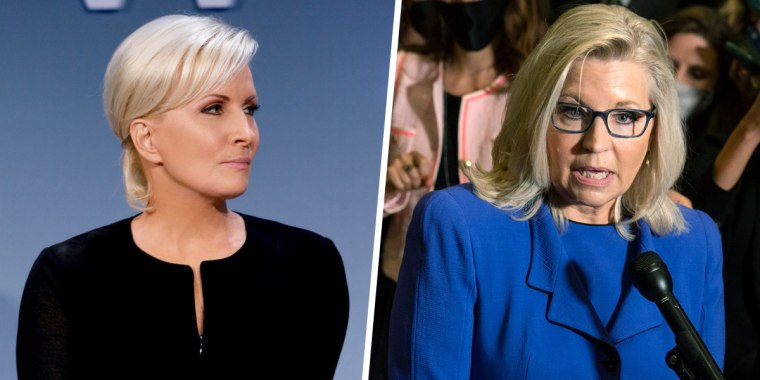 """""""Morning Joe"""" co-host and Know Your Value founder Mika Brzezinski, left, and GOP Rep. Liz Cheney of Wyoming, right."""