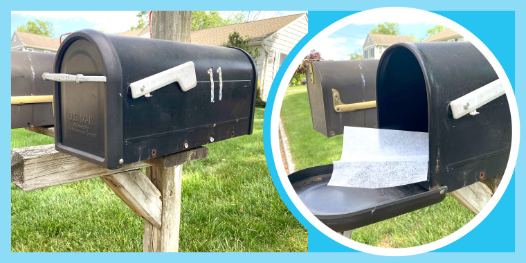 dryer sheet in your mailbox