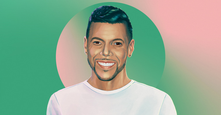 Illustration of Wilson Cruz on green background