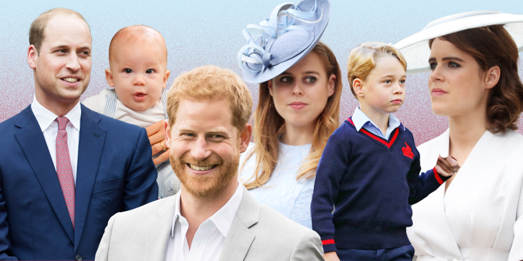 Princess Beatrice (back center) will welcome her first child in the coming months, while her sister, Princess Eugenie (far right), had her first baby in February and her cousin Prince Harry (front center) just announced the birth of his second child. That said, Prince William (far left) will remain second in line to the throne.
