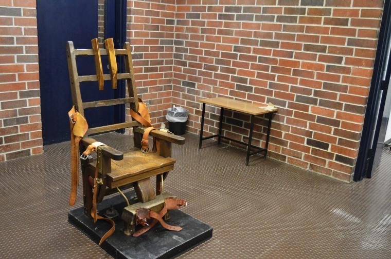 An electric chair in Columbia, S.C., in 2019.