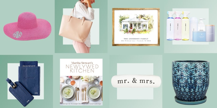 Shop the best bridal shower gift ideas include gift cards, wine, kitchen appliances, clothing and other bridal shower gifts from Etsy, Amazon, Target and more.