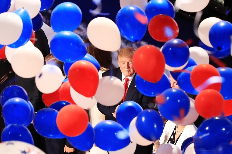Image: Donald Trump, balloons, Republican National Convention: Day Four