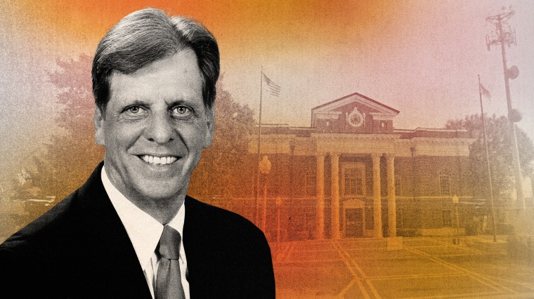 Illustration of Probate Judge Randy Jinks of Alabama and the Talladega County Probate Office.