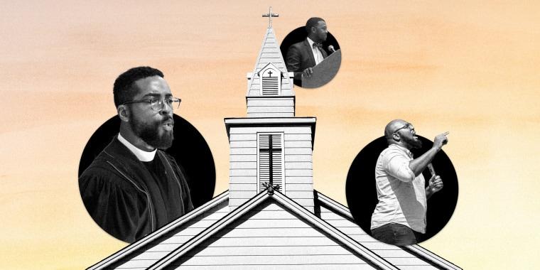 An illustration of black pastors.