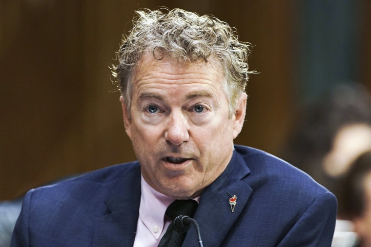 Sen. Rand Paul, R-Ky., speaks during a Senate hearing on May 11, 2021.