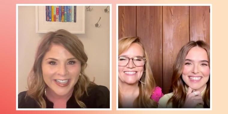 Illustration of Lea Thompson, Zoey Deutch and Jenna Bush Hager on broadcast