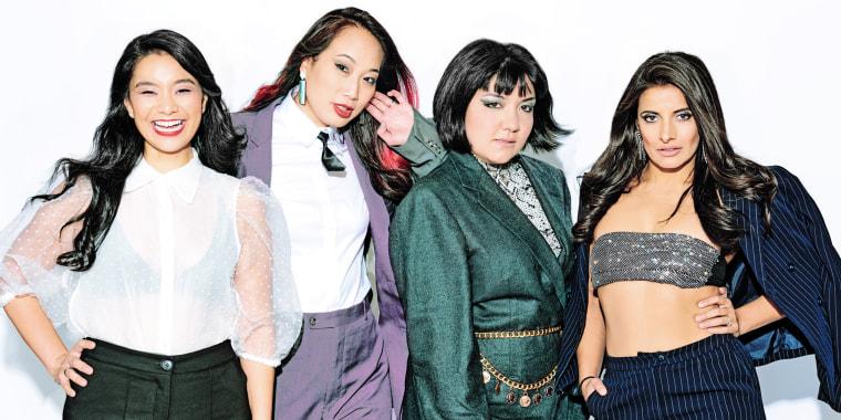 Meet AzN Pop!, a satirical pop band and Asian-American sketch comedy troupe comprised of members Angel Yau (Quirky Rice), Iliana Inocencio (Baby Rice), Anna Suzuki (Edgy Rice) and Maya Deshmukh (Brown Rice).