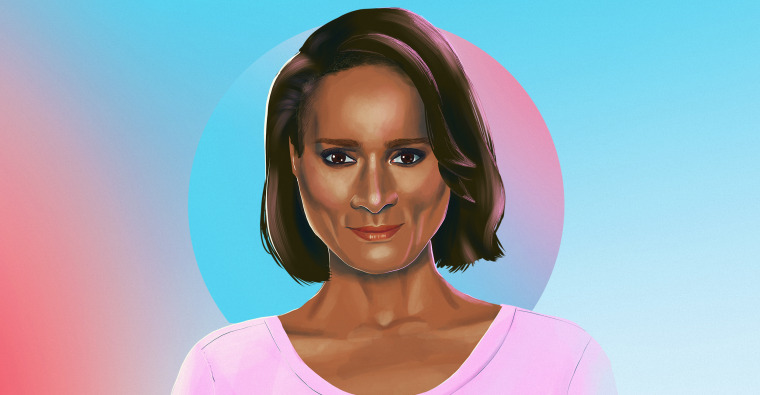 Illustrated portrait of model Tracey Africa Norman