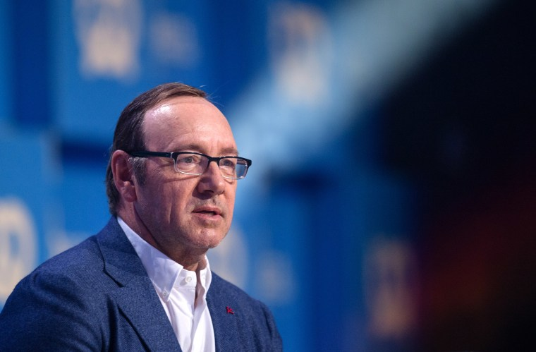 Image: Kevin Spacey speaking at the Bits and Pretzels founders' and investors' festival in Munich, Germany.