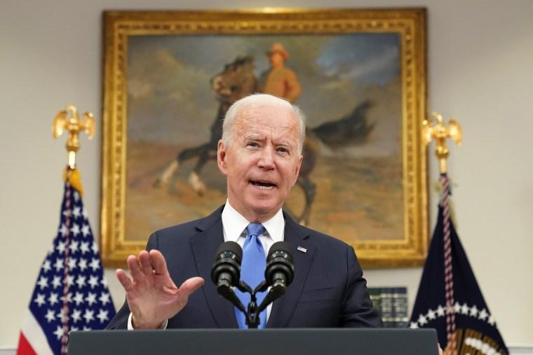 President Joe Biden speaks at the White House on May 13, 2021.