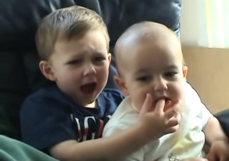 """Image: \""""Charlie bit my finger!\"""""""