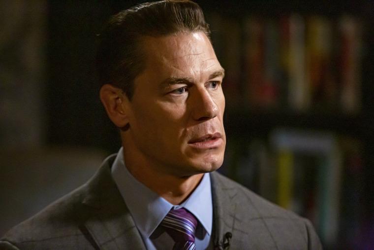 """John Cena talks with Willie Geist on NBC's \""""Sunday TODAY\"""" on Oct. 4, 2019."""