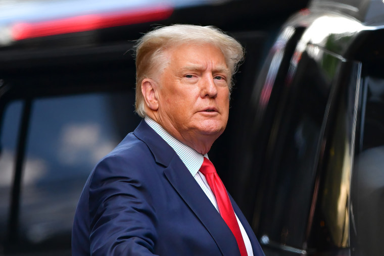 Image: Donald Trump leaves Trump Tower on May 18, 2021 in New York City.