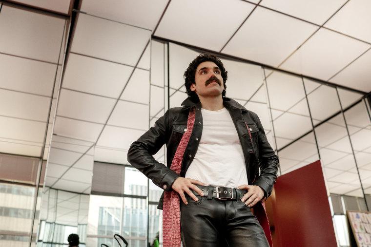 "Gian Franco Rodriguez as Victor Hugo in \""Halston\"" on Netflix."