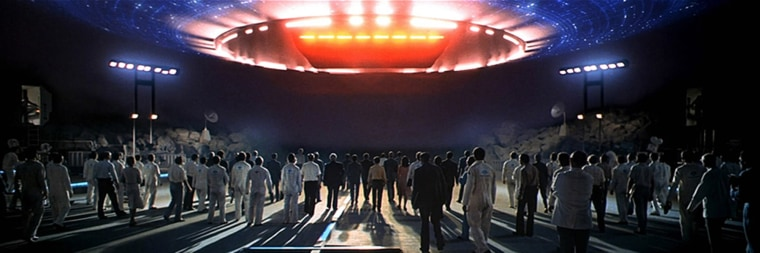 Image: A scene from 'Close Encounters of the Third Kind'