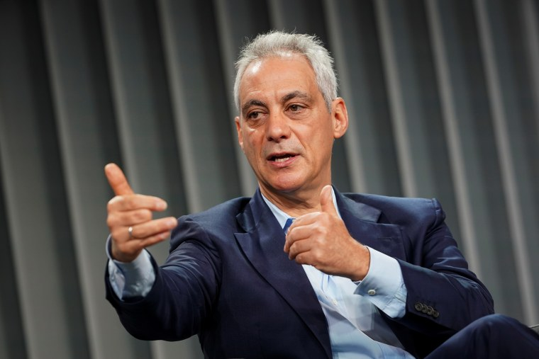 Rahm Emanuel speaks during the Wall Street Journal CEO Council in Washington on Dec. 10, 2019.
