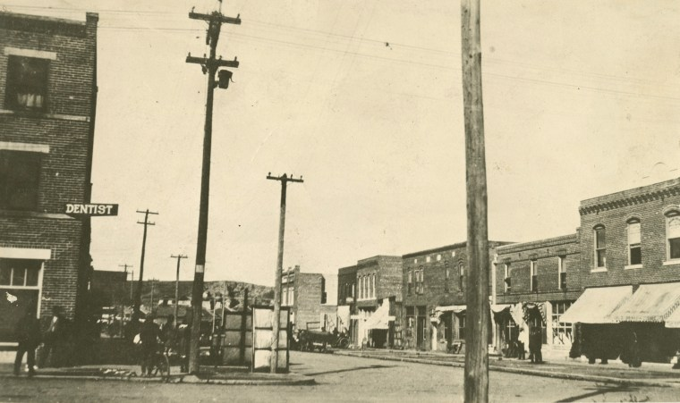 North Greenwood Ave. in Tulsa, Okla., prior to the 1921 Tulsa massacre.