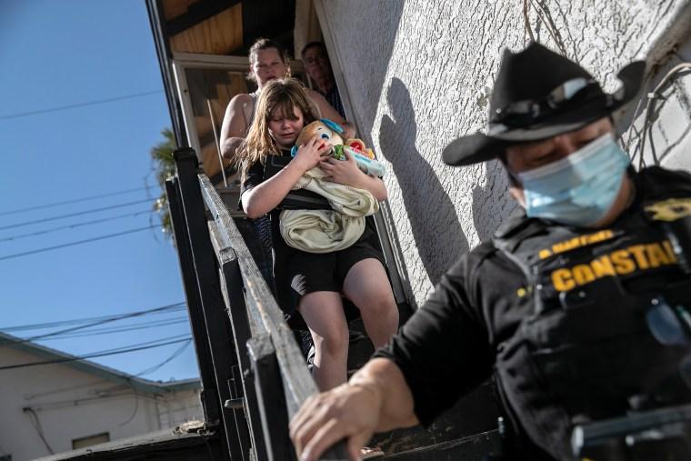 Image: Evictions Continue Despite CDC Moratorium As COVID-19 Ravages U.S. Economy