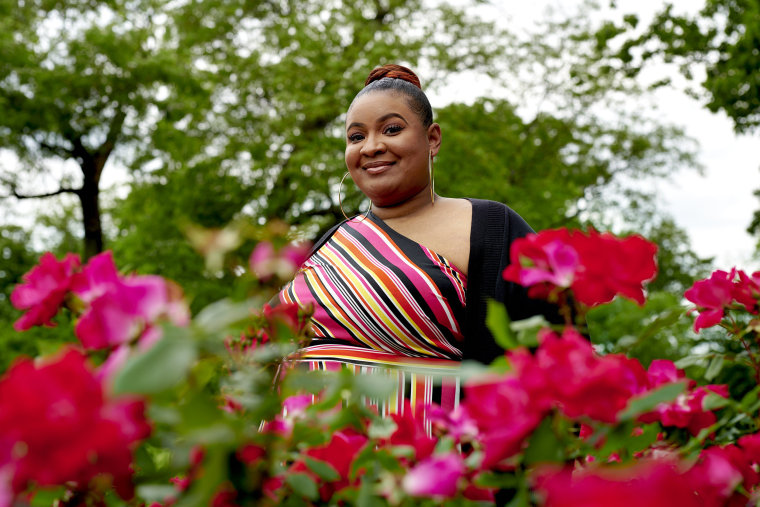Image: Simone Gordon a single mother and activist  in Branch Brook Park in Newark, N.J., on May 28, 2021.