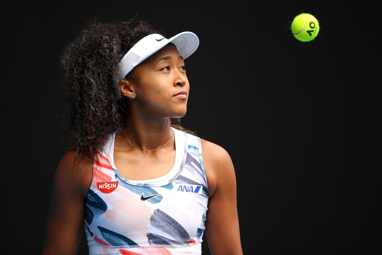 Image: Naomi Osaka of Japan looks on during her Women's Singles first round match at the 2020 Australian Open at Melbourne Park.