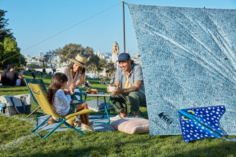 West Elm and REI collaborated on a set of outdoor furniture and accessories.
