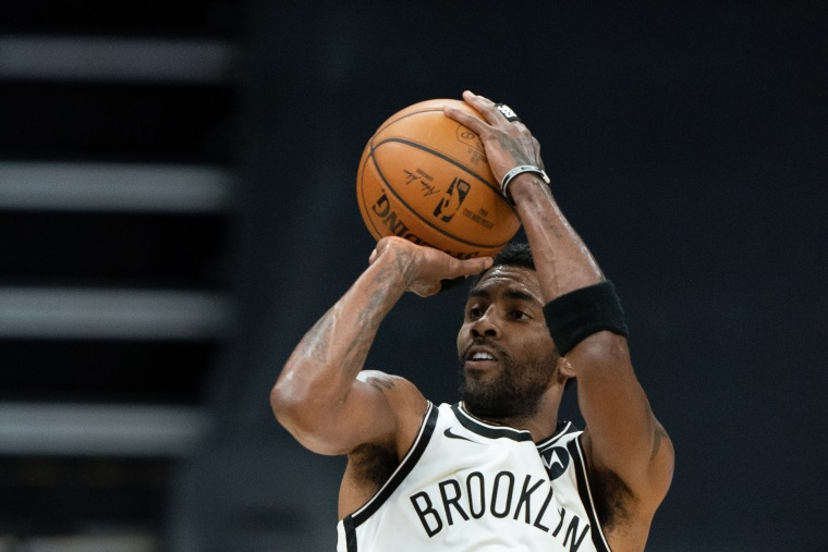 Image: Brooklyn Nets guard Kyrie Irving during the first quarter against the Sacramento Kings in Sacramento, Calif., on Feb. 15, 2021.