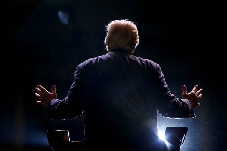 Image: Republican presidential candidate Donald Trump addresses a Trump for President campaign rally in Macon, Ga.