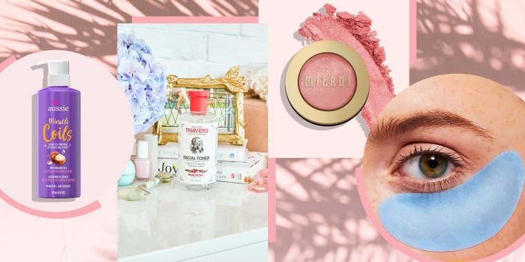 Illustration of different beauty products sold at Target, perfect for Summer
