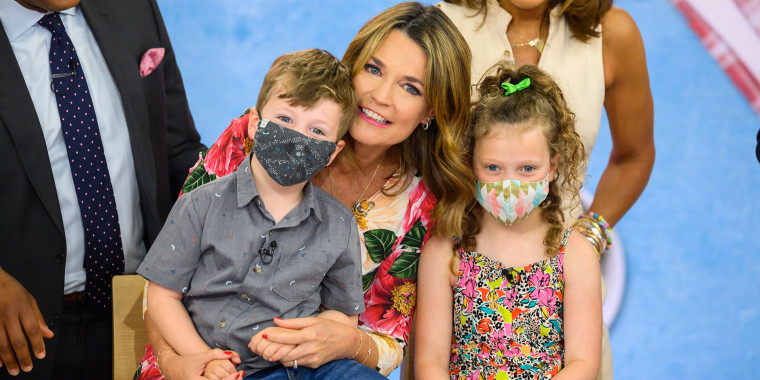 TODAY's Savannah Guthrie tells People how she made the time difference work for daughter Vale and son Charley while she covered the Tokyo Olympics.