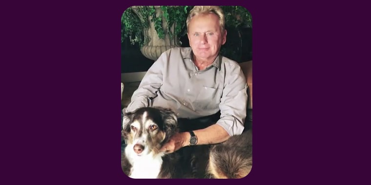 Sajak with his late dog, Stella.