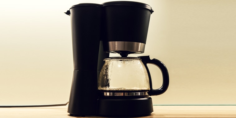 Before you brew, it's important to note that a cup of water is 8 ounces, however, a coffee pot cup is 5 ounces.