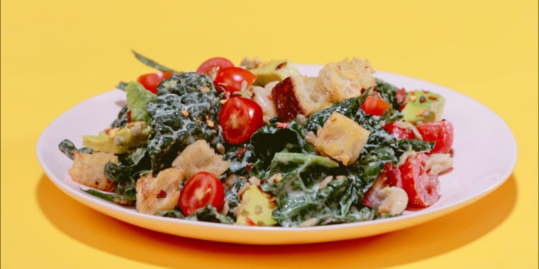 Capitalize on kale's sturdier nature by loading your salad with nutritious, delicious ingredients that add extra texture and flavor.