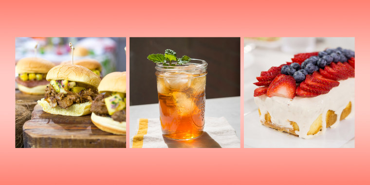 Step up your Fourth of July spread with these desserts, drinks, sides, salads and barbecue recipes.