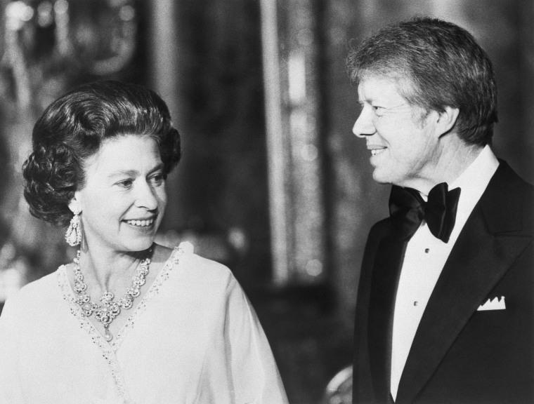 President Carter And Queen Elizabeth II