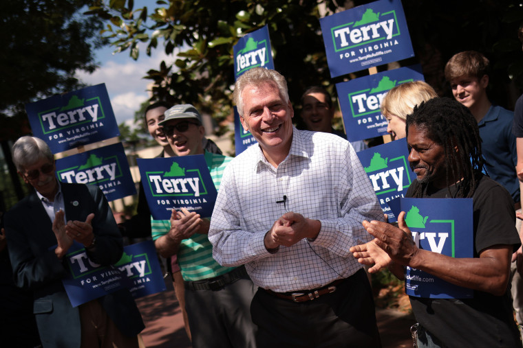 Image: Terry McAuliffe Campaigns For Second Bid As Virginia Governor
