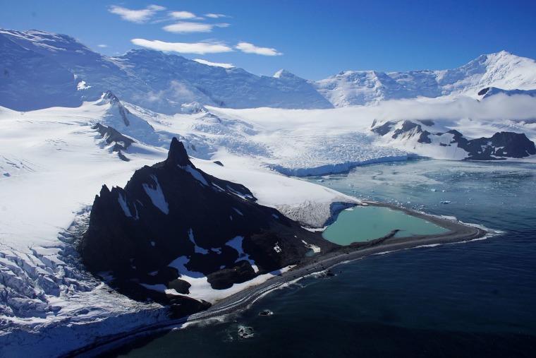 Image: Glaciers in Half Moon Bay, Antarctica