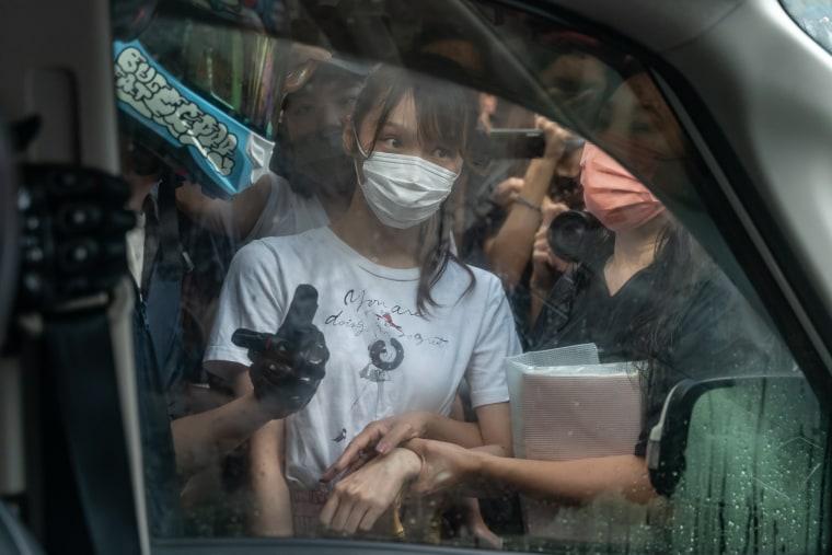 Image: *** BESTPIX *** Pro-democracy Activist Agnes Chow Finishes Jail Term