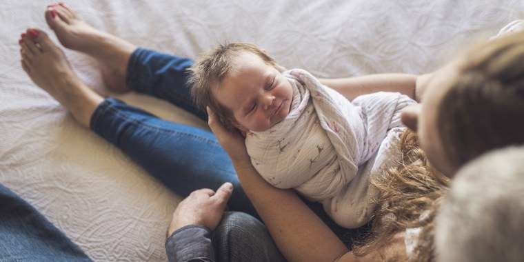 """""""When done correctly, swaddling can be an effective technique to help calm infants and promote sleep,"""" Jude J. Cope, DO, told TODAY."""