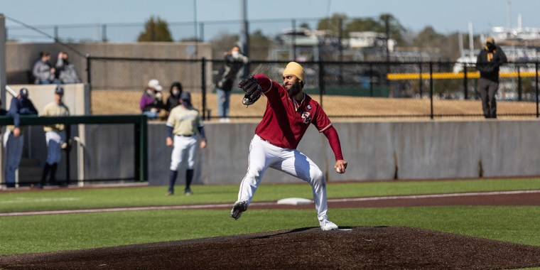 After recovering from an elbow injury, Boston College's Samrath Singh pitched his first game as a college player in the spring of 2020.