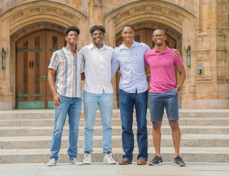 Ohio quadruplets Aaron, Nick, Nigel and Zach Wade are known as the 'Quad Squad'.