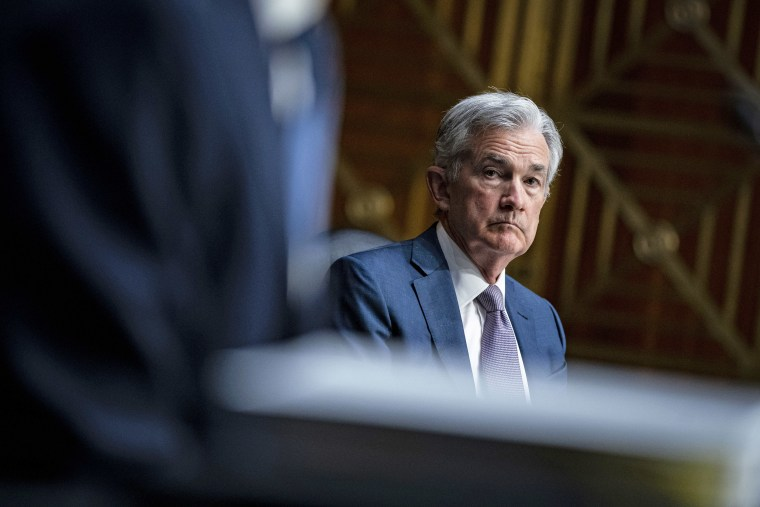 Federal Reserve Chair Jerome Powell listens during a Senate Banking Committee hearing on Dec. 1, 2020.