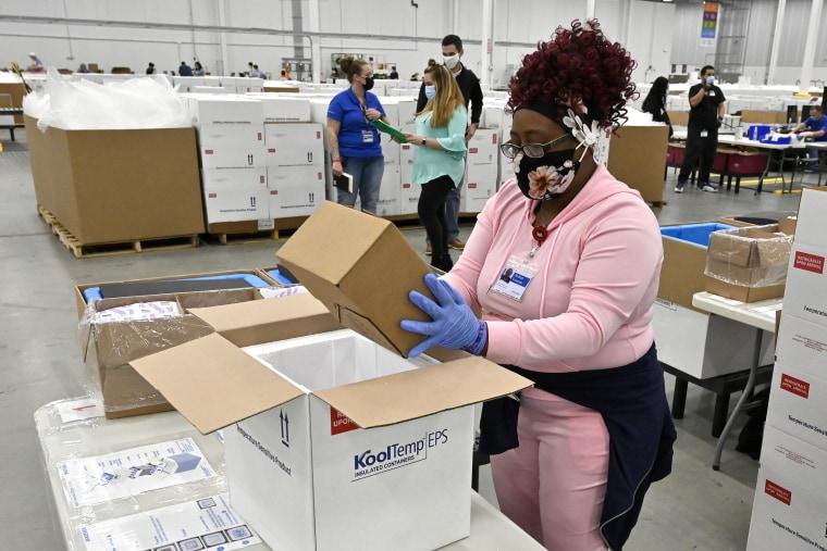 Image: Johnson & Johnson Vaccine Begins Shipment After FDA Authorizes Emergency Use