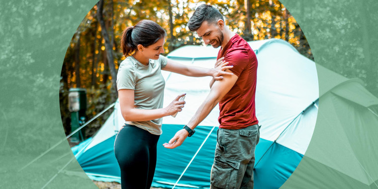 Husband and wife Camping. The best insect repellents for summer 2021 include DEET repellents, DEET-free repellents, natural insect repellents, picaridin insect repellents, OFF! bug spray and more.