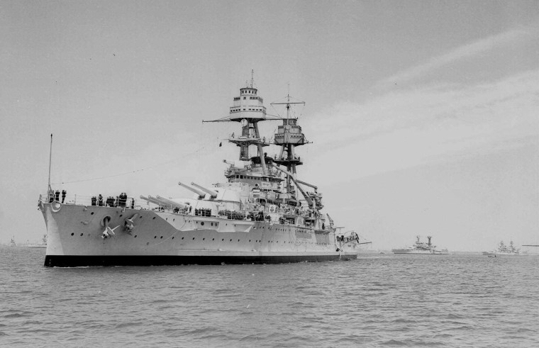 Image: The USS Oklahoma in April 1938.