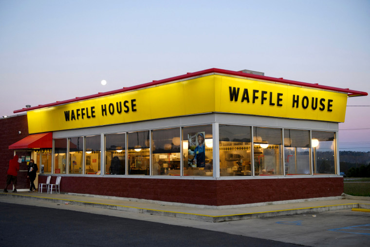 A Waffle House restaurant on March 29, 2021 in Bessemer, Ala.
