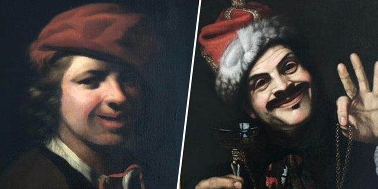 From Left: A painting of a boy by Dutch artist Samuel van Hoogstraten, and a self-portrait of Italian artist Pietro Bellotti were both found in a German dumpster.