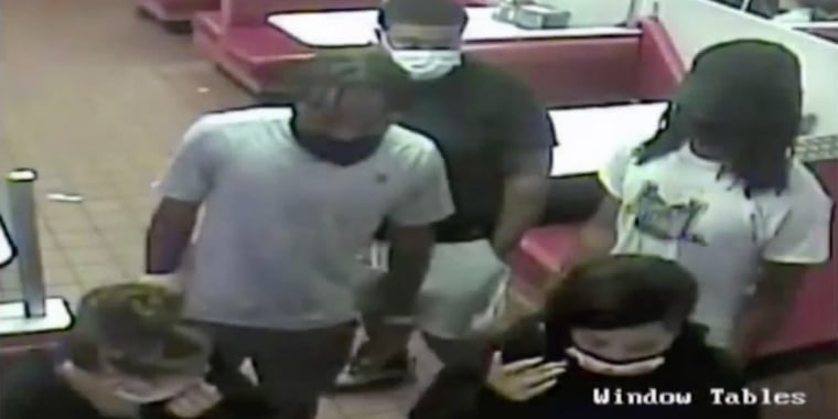 The suspects were captured on security footage at the restaurant.