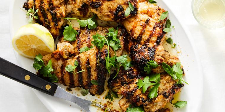 Grilled Yogurt Marinated Chicken with Za'atar.